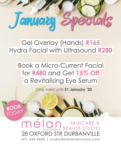 January Specials Melan Skincare Beauty Studio Durbanville