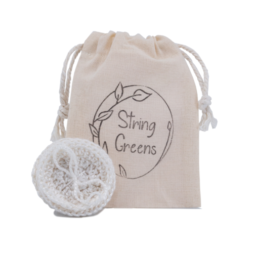 reusable bamboo rounds string greens product image