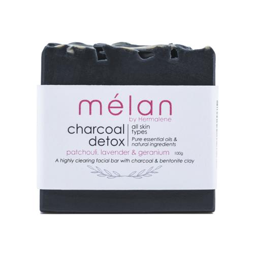 charcoal bentonite soap bar melan skincare
