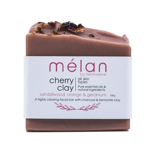 cherry clay rose soap bar melan skincare